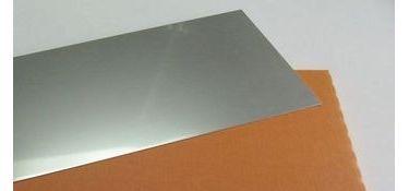 Edelstahlblech V2A, CrNi-Stahl, 1.4301, B:150mm