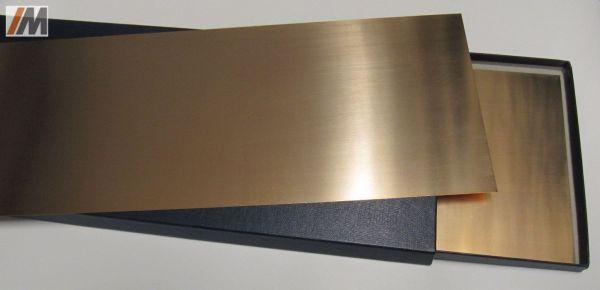 Bronzeblech CuSn6, 2.1020, hart, S:0,05-0,3mm