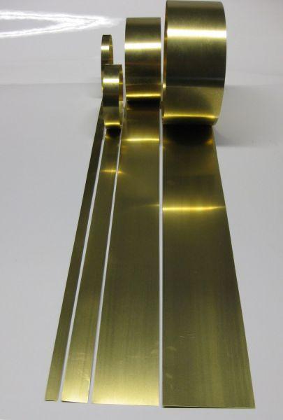 Messingstreifen ab 5mm Breite, Länge und Stärke nach Wahl